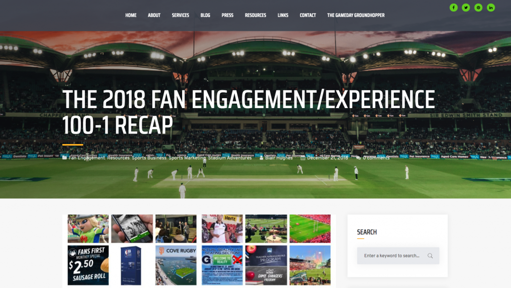 THE 2018 FAN ENGAGEMENT/EXPERIENCE 100-1 RECAP by Mr Blair Hughes